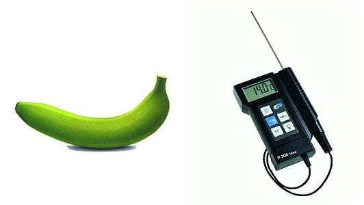 банан и термометр 14